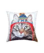 Winter Hat Cat & Squirrel Indoor/Outdoor Printed Christmas Decorative Pi... - $29.05