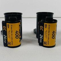Kodak Max 400 Speed 35mm Film 24 Exp. Sealed New Expired Film 2 Pack No Box - $17.00