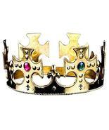 PANDA SUPERSTORE Set of 3 [Golden] King/Prince Crystal Crown Kids Party ... - $18.45