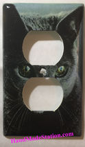 Azul Ruso Cat Light Switch Power Duplex Outlet Wall Cover Plate Home decor image 1