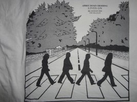 Vintage Beatles Abbey Road Crossing Lives On t Shirt Adult M Nice Free US Ship - $98.84