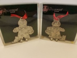 Longaberger Christmas Ornaments - Pewter - Roger and Ginger 2000 -  Set ... - $23.71