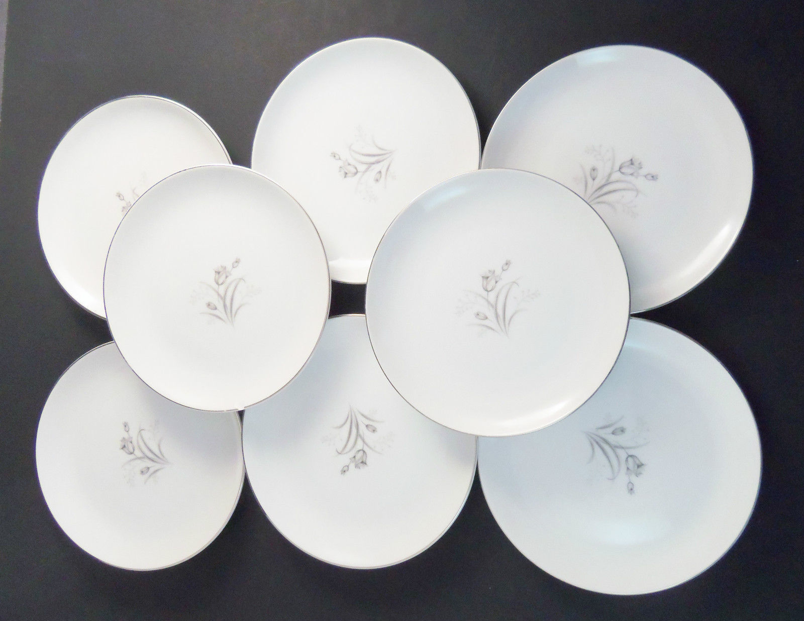 "Creative Fine China Royal Elegance 6 ¼"" Bread Dessert Plates Japan Set of 8 - $25.79"