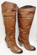 SAM EDELMAN Naharra Tall Boots Leather Western Cowboy Fashion Brown Size... - $89.95