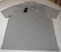 4b87a0b1 Under Armour UA HeatGear Golf UPF 30 Loose Polo shirt Mens XXL 1253479 grey  026 -