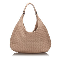 Pre-Loved Bottega Veneta Brown Intrecciato Campana Hobo Bag Italy - $812.19 CAD