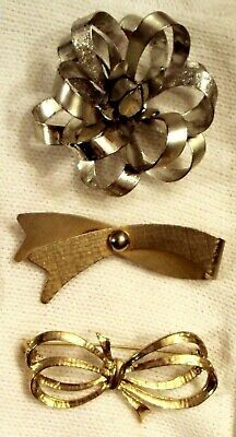 Primary image for PIN LOT Mid Century Modern Ribbon Style Statement Brooch Collection VTG Art Deco