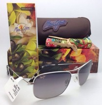 Maui Jim Gafas de Sol Titanio Wiki Mj 246-17 Plata con / Gris Lentes Pol... - $300.86
