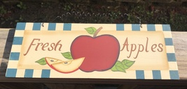 wd426 - Fresh Apples Wood Sign  - $3.95