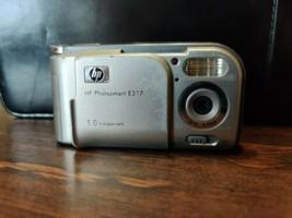HP Photosmart E-317 5.0MP; Silver - $11.11