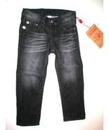 New Girls NWT True Religion Brand Jeans 3 Skinny Black Gray Adjustable W... - $62.40