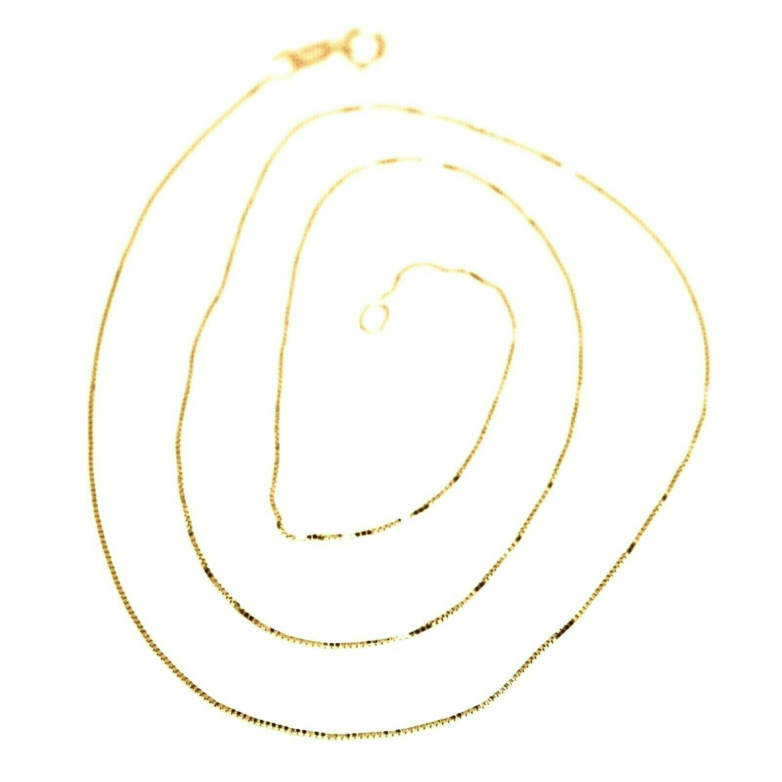 Chain Yellow Gold Or White 18K, Mini Jersey Venetian, Thickness 0.5 MM,60 CM