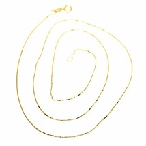 Chain Yellow Gold Or White 18K, Mini Jersey Venetian, Thickness 0.5 MM,60 CM image 1