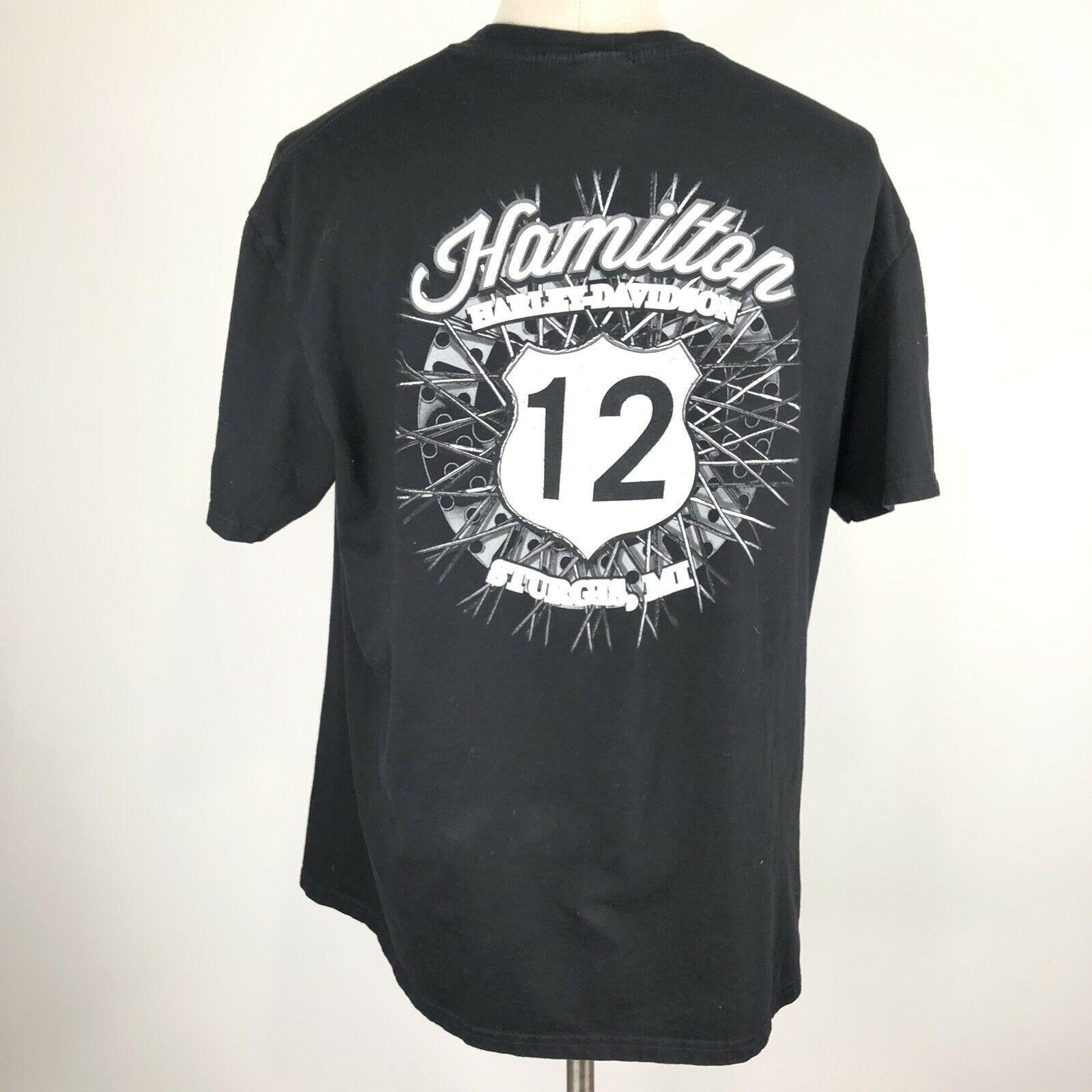 Harley Davidson T Shirt Skeleton Clown Size XL Sturgis MI Black Motorcycle image 8