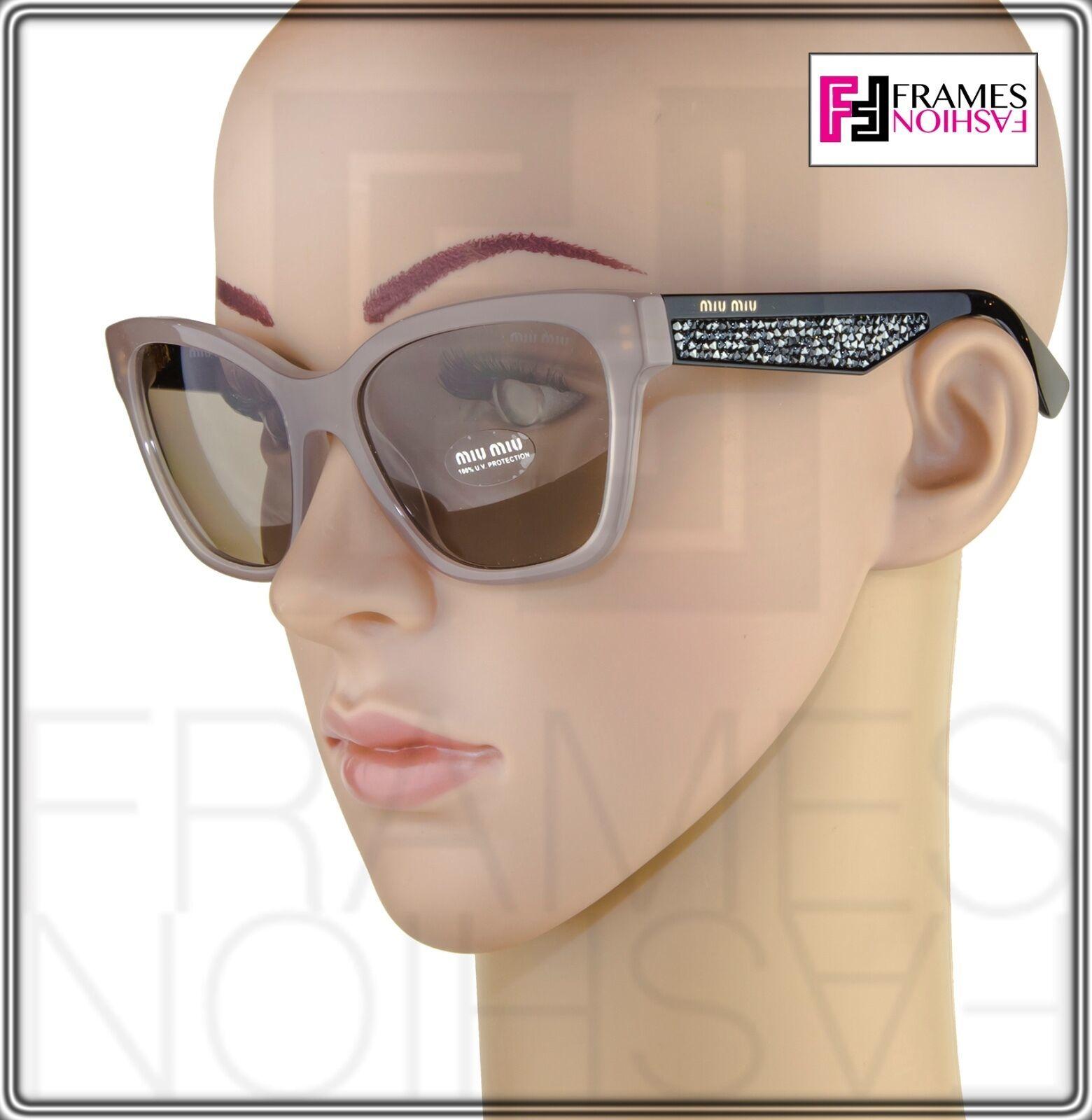 MIU MIU PAVE EVOLUTION MU 06R Square Black Rock Opal Argil Sunglasses MU06RS image 2