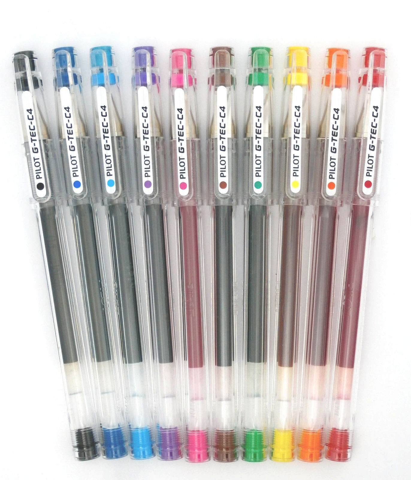 Primary image for Pilot G-Tec C4 Gel Pen 0.4mm Pack of 12 - 10 Colors to choose from!