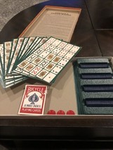 POKER-KEENO Vintage Pokeno 12 Board Set Chips Vintage 1977 by Cadaco  - $10.88