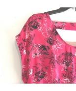 NWT Candies Sz XL Dress with Elastic Waist Dark Salmon Black White REt $40  - $17.59