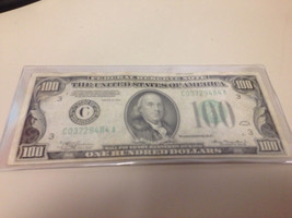 RARE $100FV (Lime Green) Series-1934 Franklin $100 Federal Reserve Note!! - $215.04