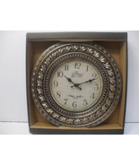 12 Inch Clock Wall Mounted Battery Powered Gray Plastic Frame - $10.67
