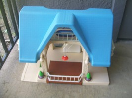 Vintage Little Tikes Family House Dollhouse Blue Roof - $119.00