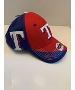 TEXAS RANGERS MLB TWO-TONE  Baseball Cap adjustable royal blue red white... - $18.97