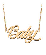 Baby Name Necklace for Best Friends Family Girl Friend Birthday Gifts - $13.99+