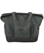 Vtg 90s Tote Bag J Peterman Wool Striped Blanket Canvas Shoulder Satchel... - $34.64