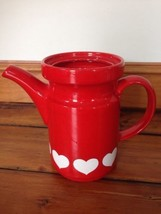 Waechtersbach Red Hearts Ceramic Teapot Pitcher - $1,000.00