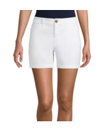St. John's Bay Mid Rise Chino Shorts Size 14 White New Msrp $32.00   - $11.99