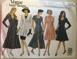 Vogue 1076  Misses' Basic Design Dresses, Tunic & Skirt Sizes 6-8-10  - $8.99