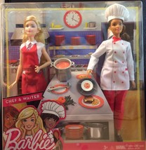 You Can Be Anything Barbie Chef and Waiter NIB (Clamshell) - $18.14