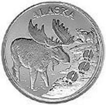 Alaska Mint Moose Tracks Silver Medallion Proof 1Oz - $85.13