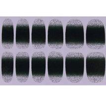 Set of 6 Stylish Bright Gradient Glittery Nail Art Stickers, Dark Green image 1