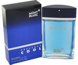 Mont Blanc Presence Cool Cologne 2.5 Oz Eau De Toilette Spray image 1
