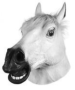 Miyaya Horror Scary White Horse Head Mask for Halloween,Masquerade,Carni... - $13.00