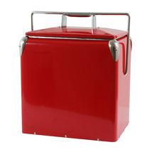 AmeriHome Retro Style Picnic Cooler - Red - £71.58 GBP
