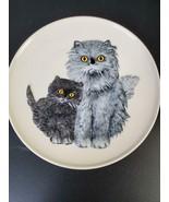 Goebel Cat Mothers Plate 1976 Persians FREE SHIP - $21.50