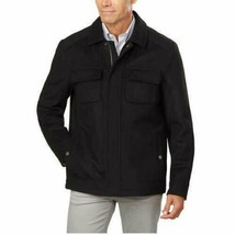 Pendleton Men's Black Cascade Wool Blend Zip up Jacket Coat Large New w Tags