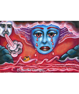 Sky Goddess crying bloody tears ORIGINAL ART PAINTING Revelation 16:3 bi... - $39.99