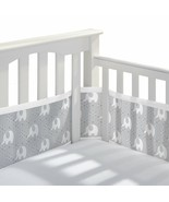 Peaceful Elephant Gray BreathableBaby Classic Breathable Mesh Crib Liner... - $39.99