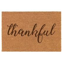 Coir Door Mat Entry Doormat Thankful - $24.74+