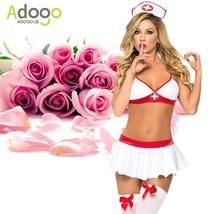 Sexy Lingerie Nurse Costume Outfit Set Nurse Cosplay Free Size image 5