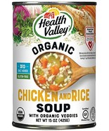 Health Valley Organic No Salt Added Soup, Chicken Rice, 15 Ounce Pack of 12 - $24.71