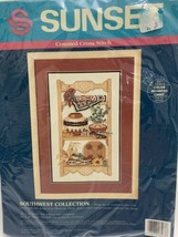 Sunset Counted Cross Stitch Kit Southwest Collection #13567 New Sealed - $19.79
