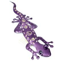 """Regal Art & Gift Hand Painted Metal Gecko Lizard 11"""" Wall Art image 2"""