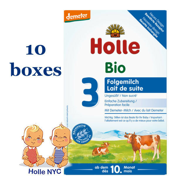 Holle Stage 3 Organic Baby Formula 10 Boxes 600g Free Shipping - $258.95