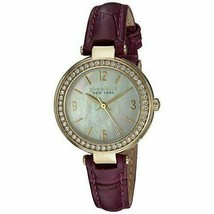 Women's Stainless Steel Quartz 44L176 Purple Leather Crocodile Strap Watch - $79.23