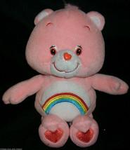 "10"" 2002 CARE BEARS CHEER BEAR PINK COLOR RAINBOW STUFFED ANIMAL PLUSH TOY - $14.03"