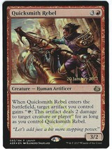 Magic The Gathering MTG Foil Quicksmith Rebel Prerelease Card Aether Revolt - $2.95